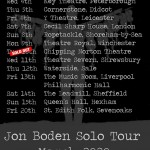 Gig review: JON BODEN – Cornerstone, Didcot, 5 March 2020