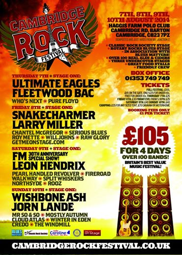 Cambridge Rock Festival 2014