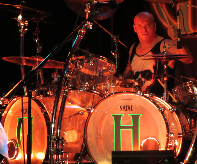 Russell Gilbrook, Uriah Heep - February 2014
