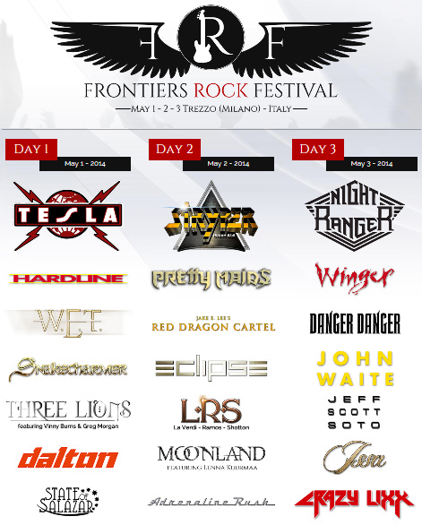 Frontiers Rock Festival, Italy, May 2014