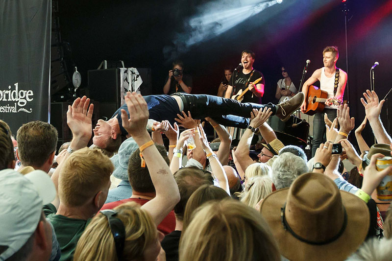 Skinny Lister - Cambridge Folk Festival, 30 July-2 August 2015