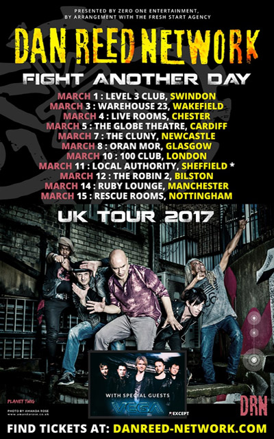 Dan Reed Network - UK Tour, March 2017