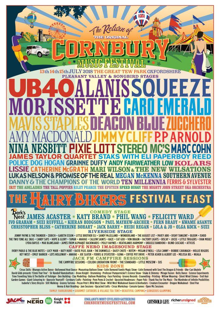 CORNBURY FESTIVAL - July, 2018
