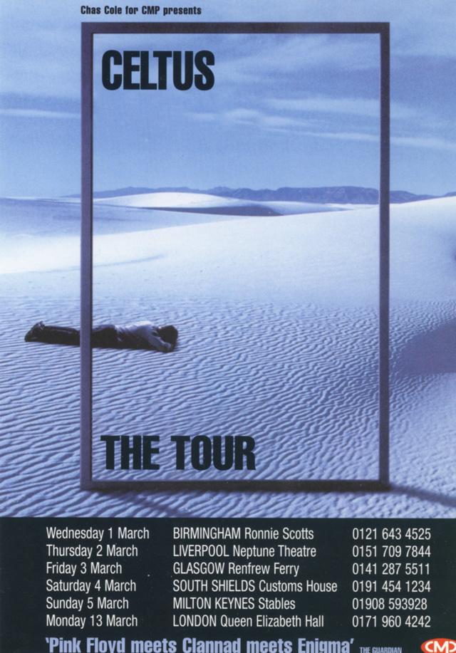 Celtus tour dates in 1999