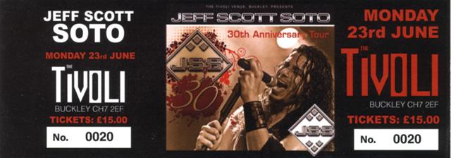 Jeff Scott Soto - The Tivoli, Buckley, June 2014