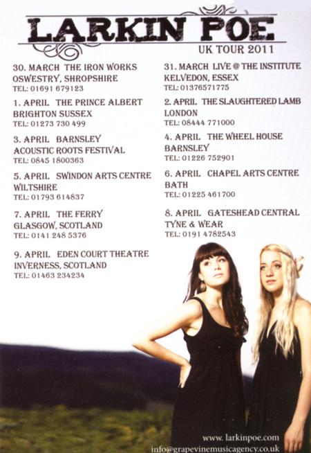 Larkin Poe - UK Tour 2011