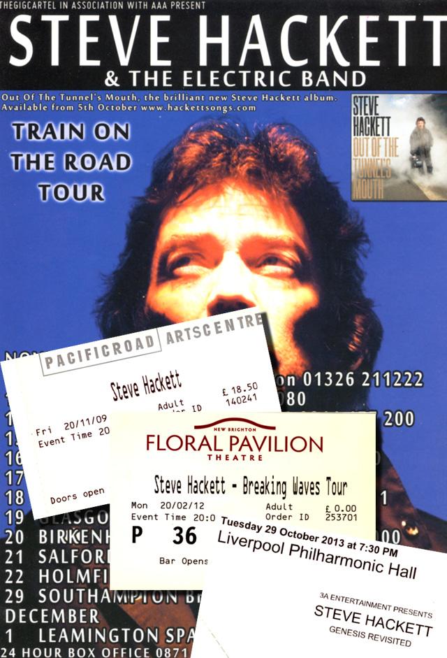 Steve Hackett on tour - 2009-2013