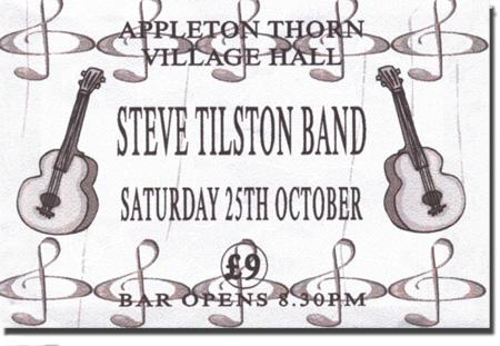 Steve Tilston Band - Appleton Thorn Village Hall, October 2003